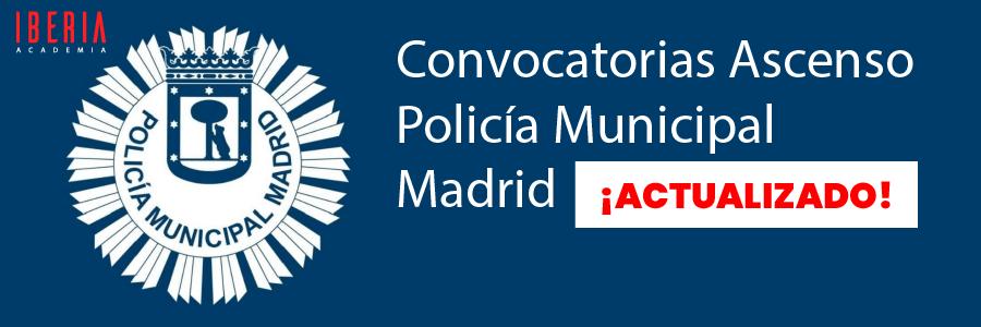 convocatoria ascenso policia municipal madrid